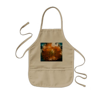 The sunset with birds kids' apron
