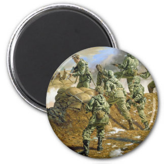 The Sunshine Division in Korea by Rick Reeves 2 Inch Round Magnet
