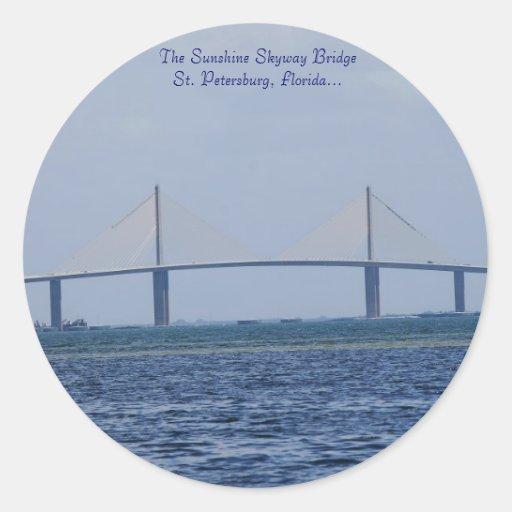 The Sunshine Skyway Bridge Classic Round Sticker