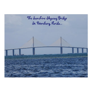 The Sunshine Skyway Bridge Postcard