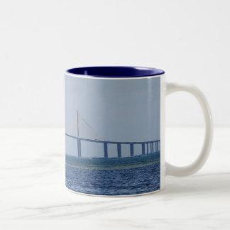 The Sunshine Skyway Bridge Two-Tone Coffee Mug