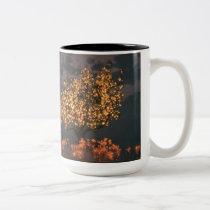 sunshine, tree, glowing, orange, Mug with custom graphic design