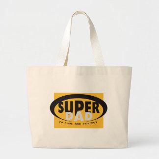 The super dad large tote bag
