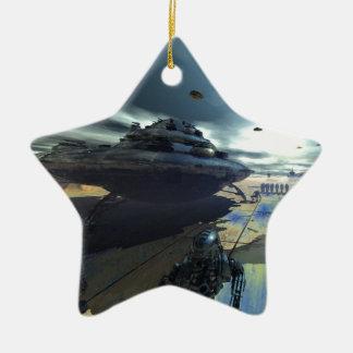 the super disk ceramic ornament