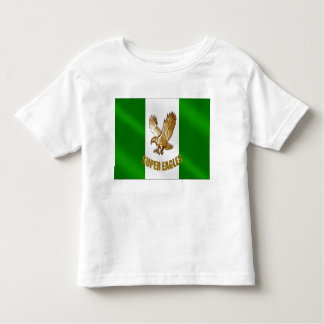 The Super Eagles in Gold on a Nigerian flag Shirt