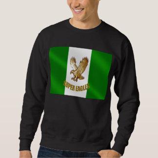 The Super Eagles in Gold on a Nigerian flag Sweatshirt