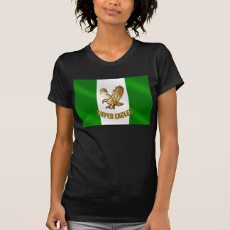 The Super Eagles in Gold on a Nigerian flag T Shirt