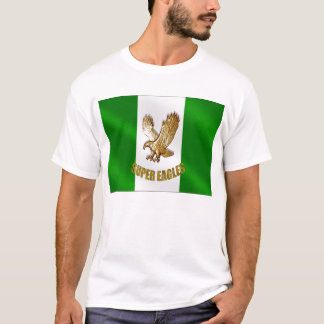 The Super Eagles in Gold on a Nigerian flag T-Shirt