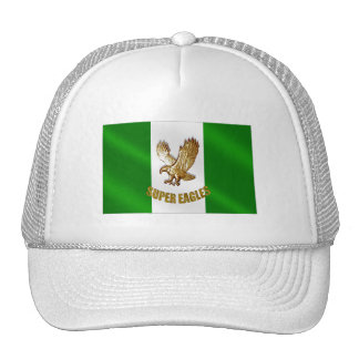 The Super Eagles in Gold on a Nigerian flag Trucker Hat