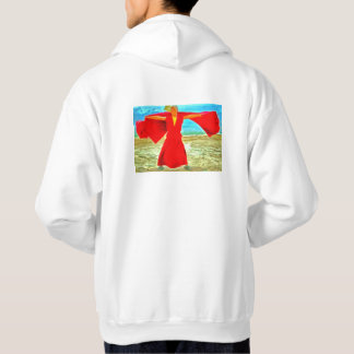 The super fit monk in red hoodie