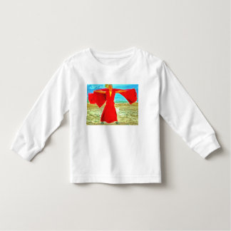 The super fit monk in red toddler t-shirt