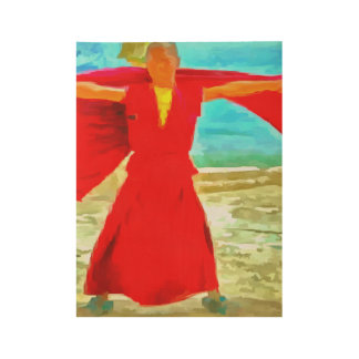 The super fit monk in red wood poster