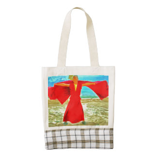 The super fit monk in red zazzle HEART tote bag