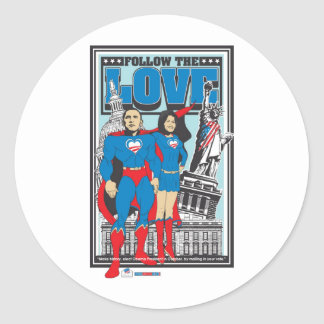 The Super Obamas Classic Round Sticker