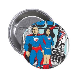 The Super Obamas Pinback Button