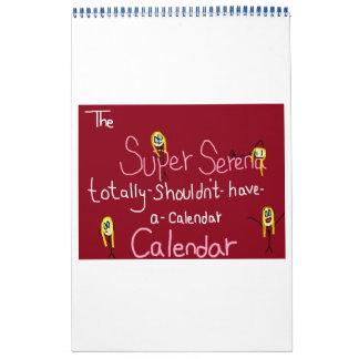 The Super Serena Totally-Shouldn't-Have-A-Calendar Calendar