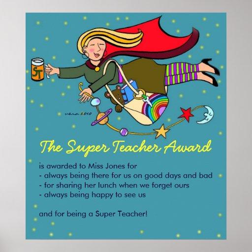 The Super Teacher Award Poster