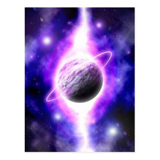 """""""The Superimposed Genesis of a Planet"""" postcard"""