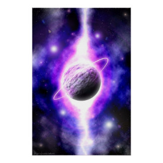 """""""The Superimposed Genesis of a Planet"""" posters"""