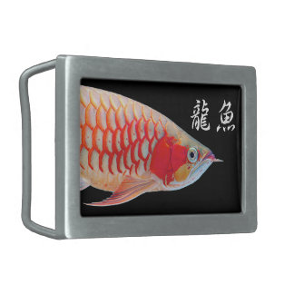 """The superior product 2 """"of Super Red Arowana"""" Belt Buckles"""