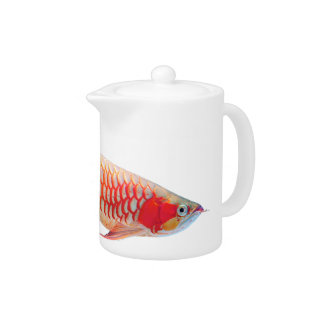 "The superior product 2 ""of Super Red Arowana"" Teapot"