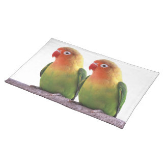 """The superior product """"of Fischer's Lovebird"""" Cloth Placemat"""
