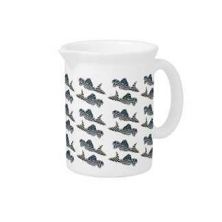"""The superior product """"of Imperial Zebra Pleco"""" Beverage Pitcher"""