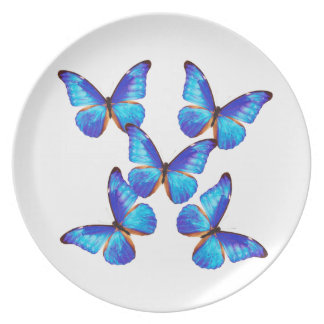 """The superior product """"of Morpho Butterfly"""" Dinner Plate"""