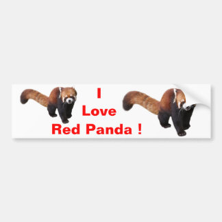 """The superior product """"of Red Panda"""" Bumper Sticker"""