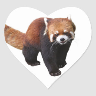 """The superior product """"of Red Panda"""" Heart Sticker"""