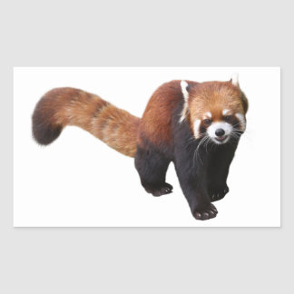 """The superior product """"of Red Panda"""" Rectangular Sticker"""