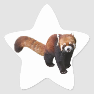 """The superior product """"of Red Panda"""" Star Sticker"""