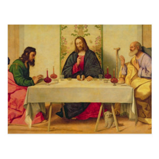The Supper at Emmaus, 1520 (oil on canvas) Postcard
