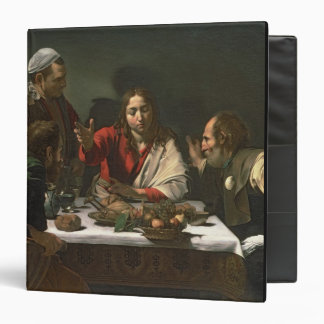 The Supper at Emmaus, 1601 (oil and tempera) 3 Ring Binder