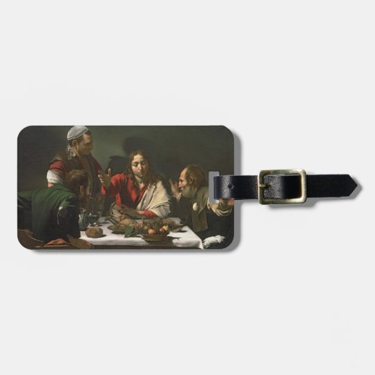 The Supper at Emmaus, 1601 (oil and tempera) Bag Tag