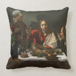 The Supper at Emmaus, 1601 (oil and tempera) Pillow