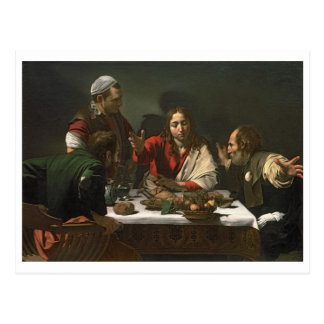 The Supper at Emmaus, 1601 (oil and tempera) Postcard