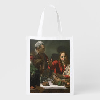 The Supper at Emmaus, 1601 (oil and tempera) Reusable Grocery Bag