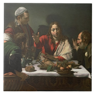 The Supper at Emmaus, 1601 (oil and tempera) Tile