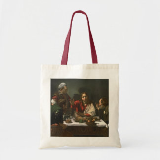 The Supper at Emmaus, 1601 (oil and tempera) Tote Bag