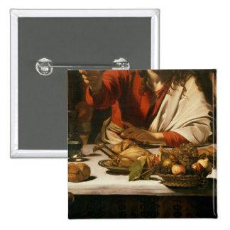 The Supper at Emmaus, 1601 Pinback Button