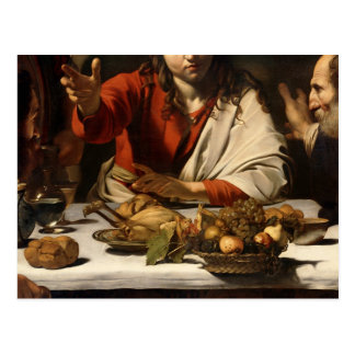 The Supper at Emmaus, 1601 Postcard