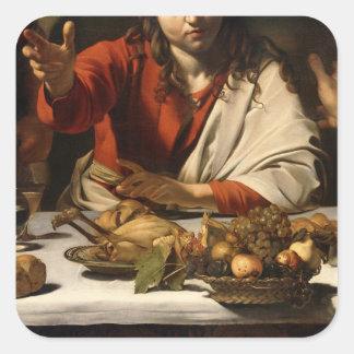 The Supper at Emmaus, 1601 Sticker