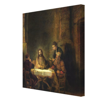 The Supper at Emmaus, 1648 Canvas Print
