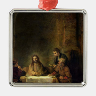 The Supper at Emmaus, 1648 Metal Ornament