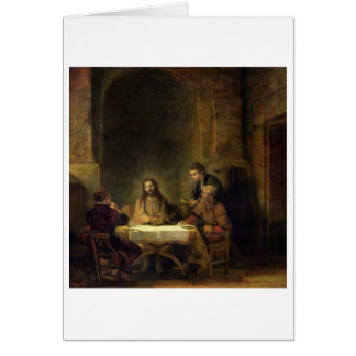 The Supper at Emmaus, 1648 (oil on panel) Card