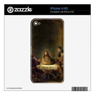 The Supper at Emmaus, 1648 (oil on panel) Decals For The iPhone 4