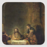 The Supper at Emmaus, 1648 Square Sticker