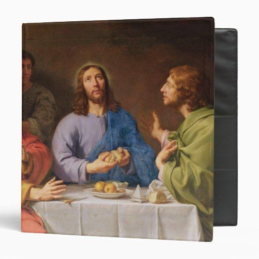 The Supper at Emmaus 3 Ring Binder