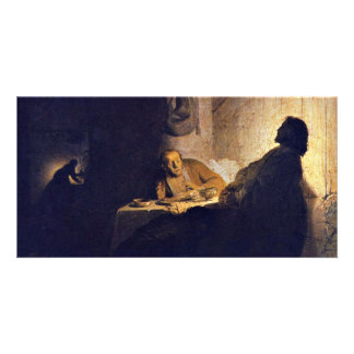 The Supper At Emmaus. By Rembrandt Van Rijn Photo Card